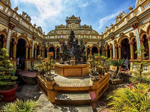 Chùa Vĩnh Tràng với kiến trúc độc đáo và đẹp mắt