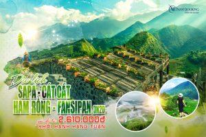 Tour du lịch Sapa: Hành trình chinh phục Fansipan – KDL Hàm Rồng – Bản Cát Cát 3N2D