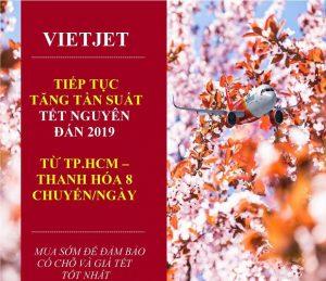 Vietjet Air – Tiếp tục tăng tần suất chuyến bay trong dịp Tết Nguyên Đán 2019