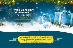 Mừng Giáng Sinh và Năm Mới – Air China tung vé khứ hồi chỉ từ 279 USD