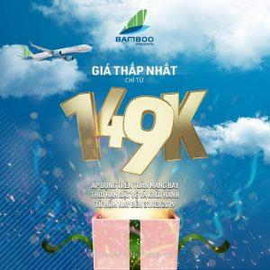 Bamboo Airways tung loạt vé giá rẻ chỉ từ 149,000 đồng