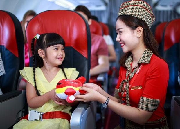 Trẻ em luôn được chào đón đặc biệt trên từng chuyến bay Vietjet Air