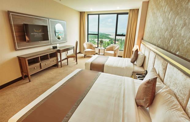 Phòng ngủ khách sạn Cà Mau Mường Thanh Luxury 5 sao