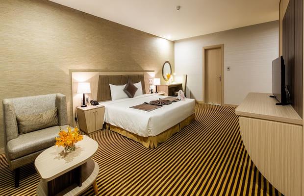 Phòng ngủ khách sạn Khánh Hòa Mường Thanh Luxury