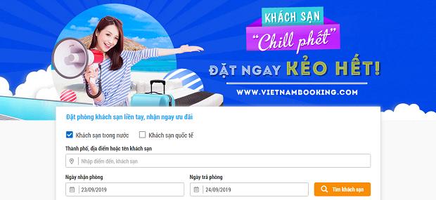 Đặt phòng khách sạn Vietnam Booking