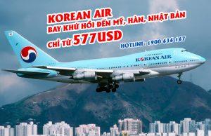 Korean Air – Bay khứ hồi đến Mỹ, Nhật Bản chỉ từ 577 USD