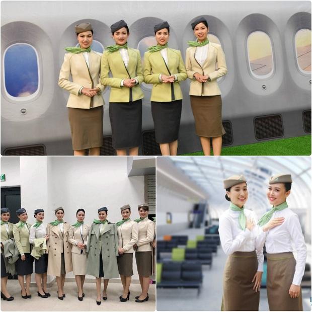 Đội ngũ tiếp viên trẻ trung, nhiệt tình sẽ phục vụ bạn khi đặt mua vé máy bay Bamboo Airways
