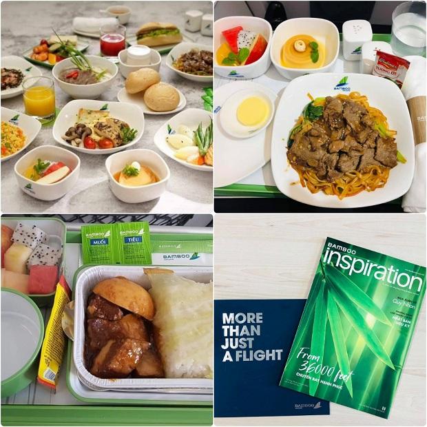 Một số món ăn được cung cấp bởi hãng hàng không Bamboo Airways