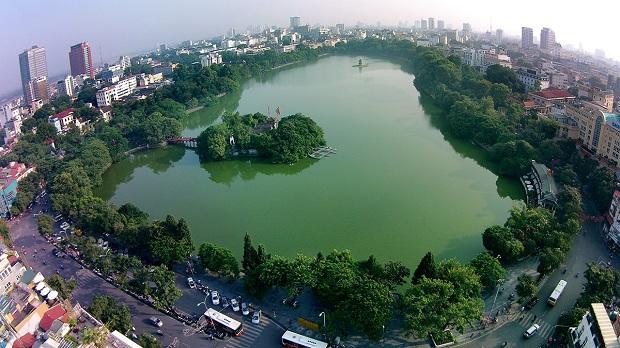 Mua vé máy bay đi Hà Nội Bamboo Airways đừng quên ghé thăm hồ Hoàn Kiếm
