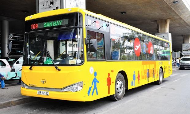 Xe buýt 109 kết nối sân bay Tân Sơn Nhất với công viên 23/9