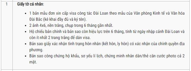 Visa công tác Đài Loan có thời hạn bao lâu?