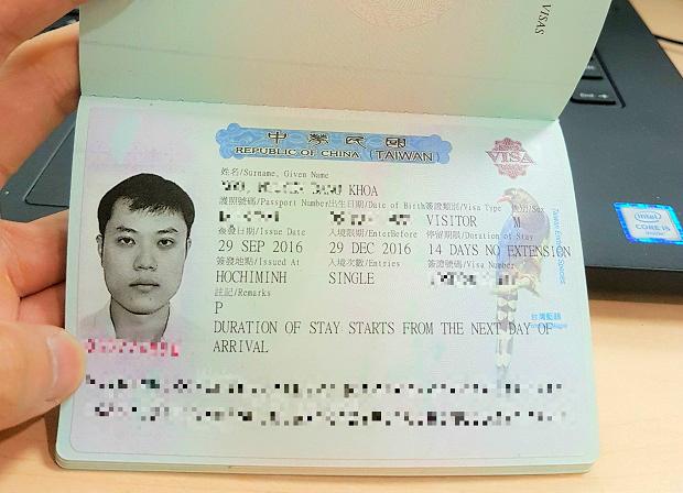 xin visa Đài Loan mất bao nhiêu tiền