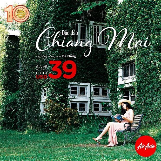 AirAsia khuyến mãi vé máy bay giá rẻ đi Chiang Mai chỉ từ 39 USD