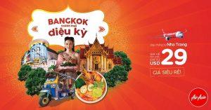 AirAsia – Bay thẳng từ Nha Trang đến Bangkok chỉ từ 29 USD