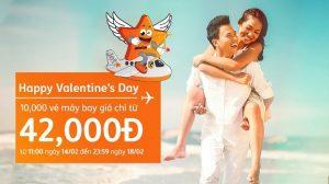 Happy Valentine's Day – 10,000 vé khuyến mãi Jetstar từ 42,000 đồng
