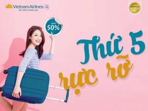 Thứ năm rực rỡ – Vietnam Airlines giảm giá đến 50% vé máy bay nội địa