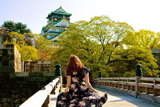 Book vé máy bay khứ hồi đi Nhật đến thăm lâu đài Osaka