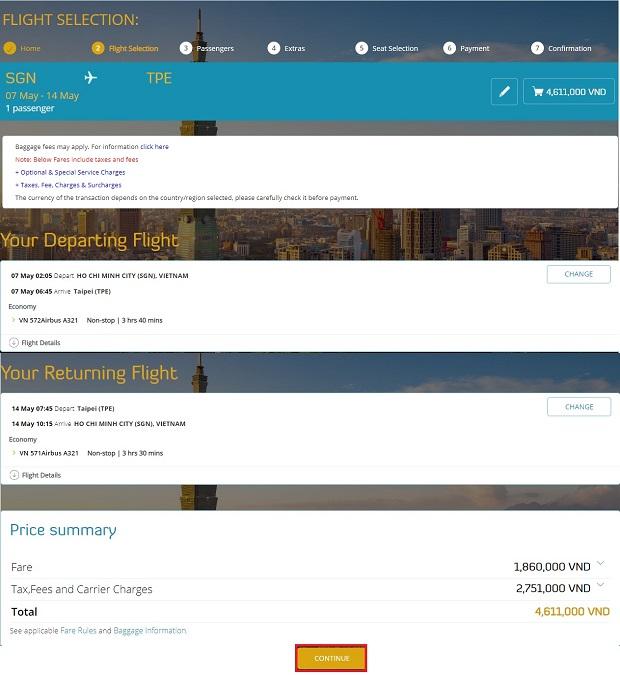 cách đặt vé máy bay thanh toán sau làm visa
