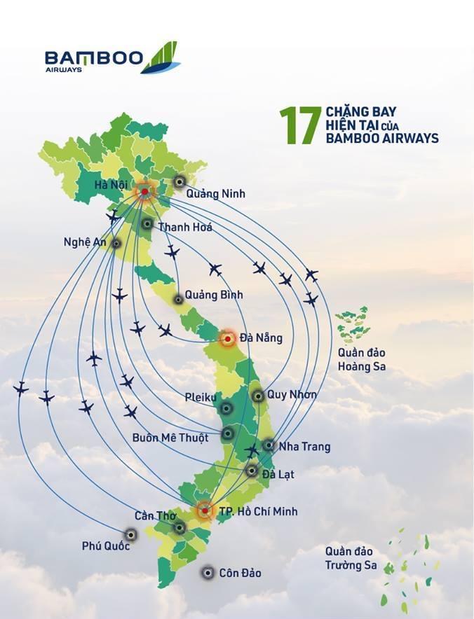 Chặng bay của hãng Bamboo Airways