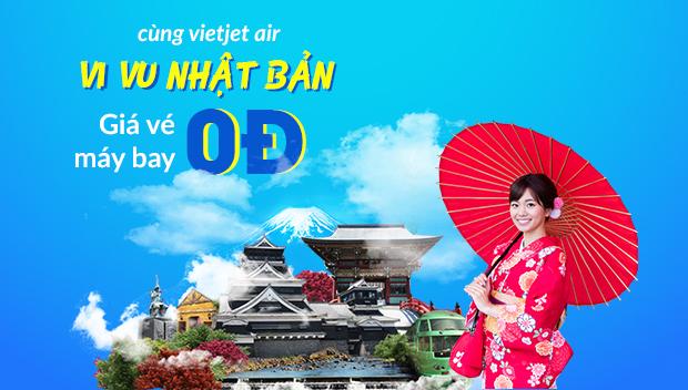 Cùng Vietjet Air vi vu Nhật Bản với loạt vé 0đ vào thứ Tư hàng tuần