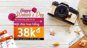 Happy Women's Day 8/3 – Jetstar dành tặng vé giá rẻ chỉ từ 38,000 đồng