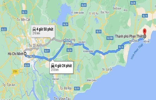 Khách sạn Phan Thiết cách Tp.HCM khoảng 200km