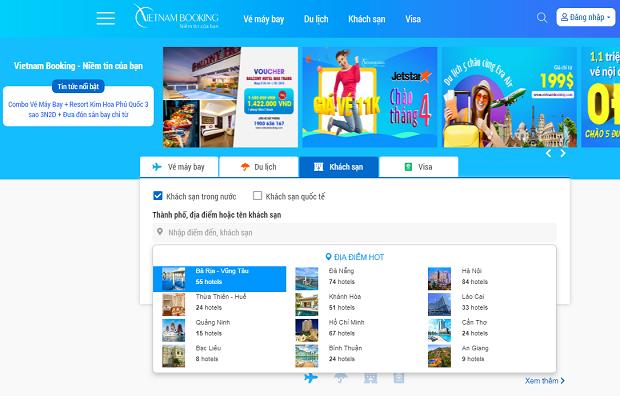 Vietnam Booking- cách book phòng khách sạn