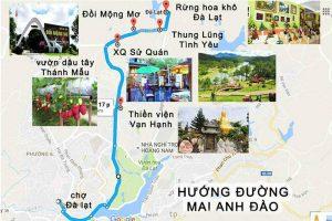 Bản đồ du lịch Đà Lạt theo cung đường mới nhất