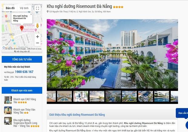 cách thức đặt phòng khách sạn trên website Vietnam Booking