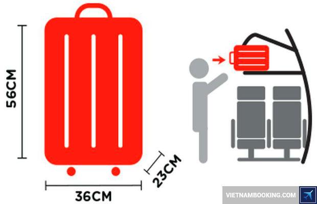 Kích thước hành lý miễn cước của Jetstar Pacific