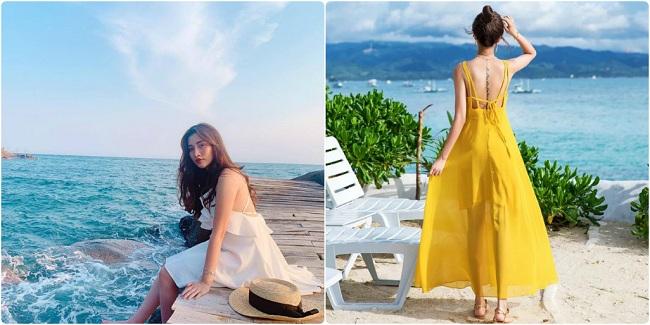 Đầm Maxi đi biển - Mặc đồ đi du lịch đà nẵng