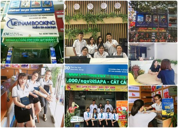 Phòng vé của Vietnam Booking tại Hà Nội, Tp.HCM và Đà Nẵng