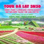 Tour Đà Lạt 3 ngày 3 đêm trọn gói – Sunny Farm | LangBiang | Hoa Sơn Điền Trang | Mê Linh Coffee | Fresh Garden | Thác Pongour