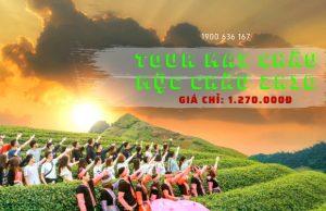 Tour Mai Châu – Mộc Châu 2 ngày 1 đêm các mùa hoa   Tham quan Thác Dải Yếm – Happy Land – Đồi chè trái tim – Thung lũng Mai Châu