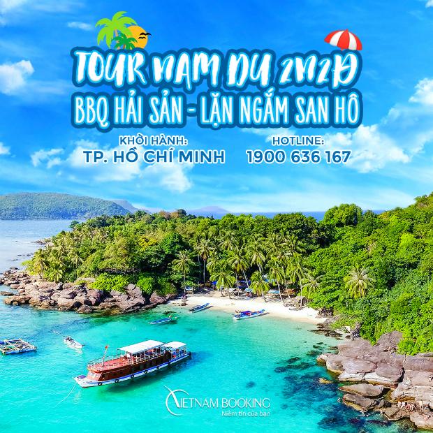 Tour Nam Du 2 ngày 2 đêm trọn gói chỉ 1.770.000Đ – Hòn Củ Tron | Hòn Mấu | Lặn ngắm san hô