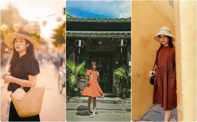 Váy đầm Vintage gợi ý hay cho câu hỏi đi du lịch đà nẵng nên mặc gì
