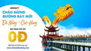 Jetstar chào mừng đường bay mới Đà Nẵng – Cao Hùng chỉ 0Đ