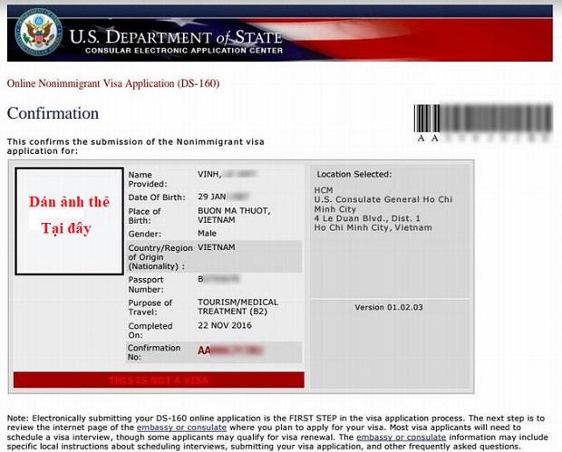 Thu tuc xin visa di My online