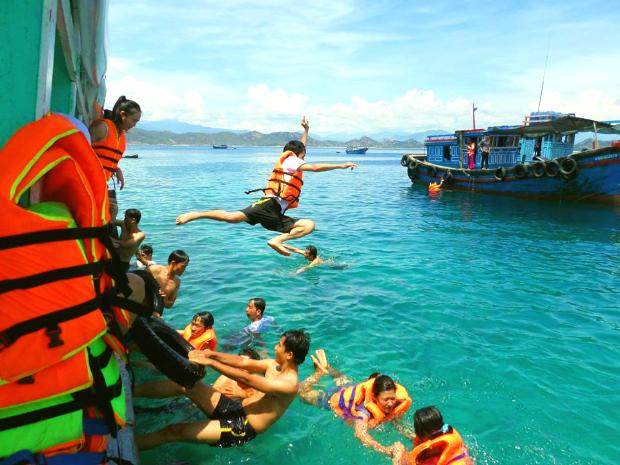 lặn biển - Tour Bình Hưng 2N2Đ