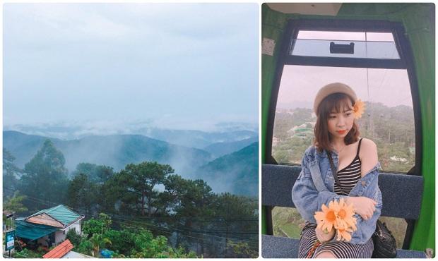 Ngồi cáp treo đồi vọng cảnh Robin Tour du lịch Đà Lạt khởi hành từ Đà Nẵng
