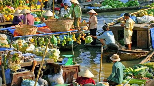 Chợ nổi Cái Răng Cần Thơ Tour du lịch đồng bằng sông Mekong