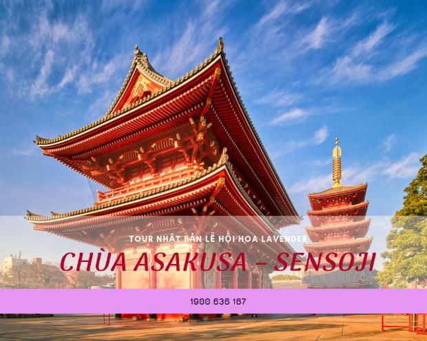 Chùa Asakusa – Sensoji - tour du lịch Nhật Bản từ Đà Nẵng
