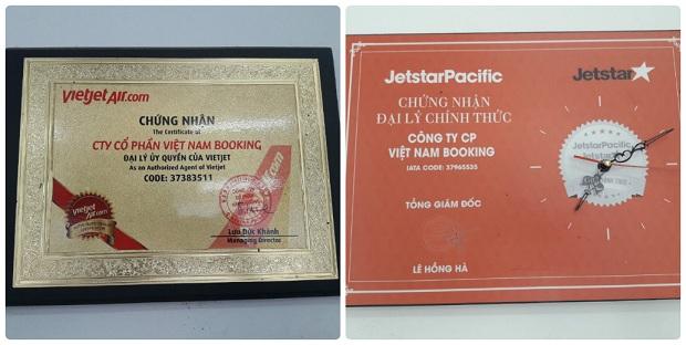 Chứng nhận Vietnam Booking là đại lý vé Jetstar Pacific chính thức