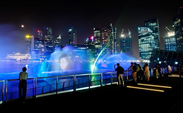 Nhạc nước Marina By Sands | Tour Malaysia Singapore 4 ngày 3 đêm