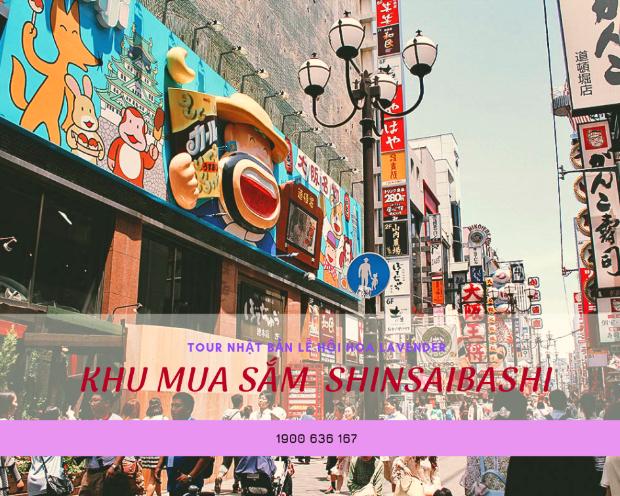 khu phố mua sắm đi bộ Shinsaibashi - Tour du lịch Nhật Bản từ Đà Nẵng