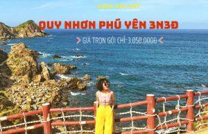 Tour Quy Nhơn Phú Yên 3N3Đ – Một hành trình hai điểm đến, khám phá cảnh đẹp Kỳ Co, Eo Gió, xứ sở hoa vàng cỏ xanh