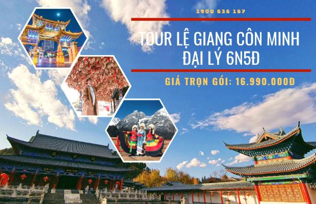 Du lịch Trung Quốc 6N5Đ trọn gói, tiết kiệm: Hành trình chiêm ngưỡng vẻ đẹp cổ kính Lệ Giang – Côn Minh – Đại Lý