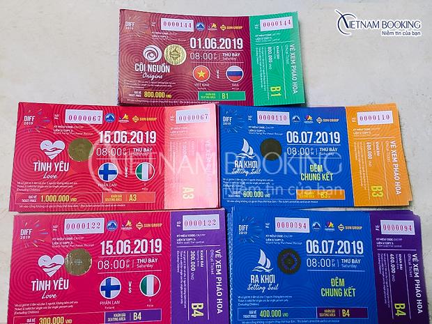 Bảng vé xem lễ hội pháo hoa quốc tế Đà Nẵng 2019