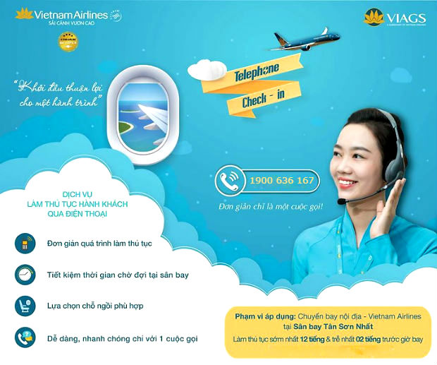 Dịch vụ Telephone Check-in của Vietnam Airlines