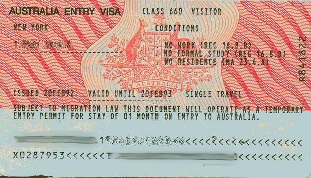 Hướng dẫn điền form khai xin visa Úc